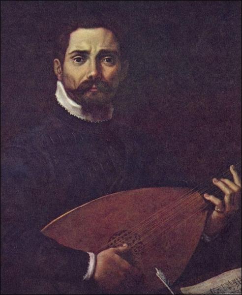 Portrait de Giovanni Gabrielli jouant du luth, 1599-1600