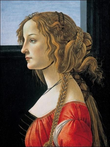 Portrait de Simonetta Vespucci 1476-80