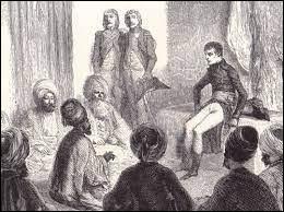 Au Caire, Napoléon veut se présenter comme le libérateur du peuple égyptien contre l'oppression mamelouk. Il cherche le soutien des notables locaux en participant aux fêtes musulmanes et en les associant à l'administration du pays, au sein d'un conseil appelé :