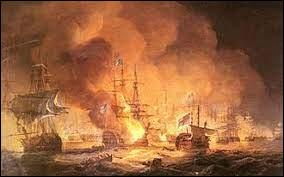 Alors que la campagne semble parfaitement se dérouler selon ses plans, une terrible nouvelle parvient à Napoléon le 1er août 1798. Il apprend que la flotte française vient de subir un désastre dans un combat naval face à la marine britannique. Quelle est cette bataille ?