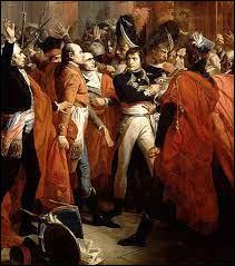 Si objectivement la campagne d'Egypte est un défaite militaire pour Bonaparte, la propagande napoléonienne fait de lui un glorieux conquérant. Il revient en France auréolé de prestige. Quel évènement lui permettra de prendre le pouvoir 4 mois après son retour (9 novembre1799) ?