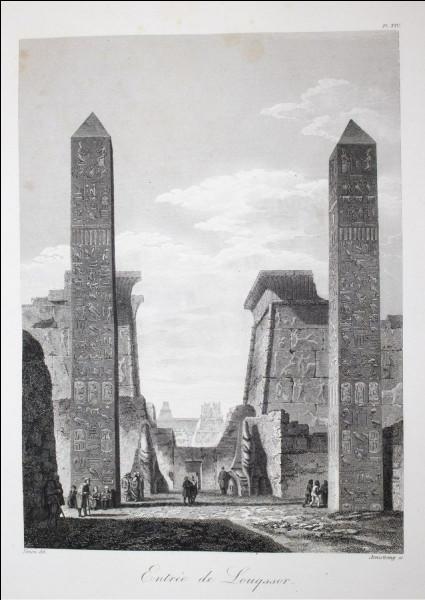 A Louxor, les dessinateurs napoléoniens ont immortalisé les 2 grandioses obélisques se dressant à l'entrée du temple. Le vice-roi d'Egypte offrira l'un d'eux à la France. Quel monarque français la fera installer au centre de la place de la Concorde à Paris ?