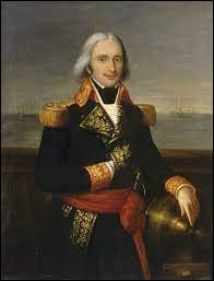 Quel amiral commande la formidable armada napoléonienne forte de 13 vaisseaux de ligne , 14 frégates et une flotille de 400 petits bâtiments destinés au transport de matériel ?