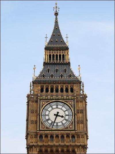 Dans quel pays se trouve l'horloge la plus célèbre, Big Ben ?