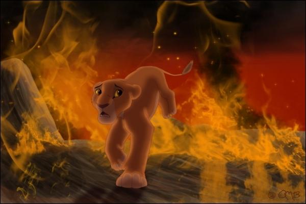 Que part faire Kiara quand elle est piégée par les flammes ?