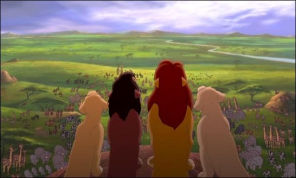 Qui rugit en premier sur le rocher à la fin du film ?
