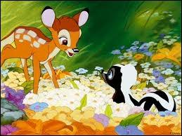 Quel est le nom du putois ami de Bambi ?