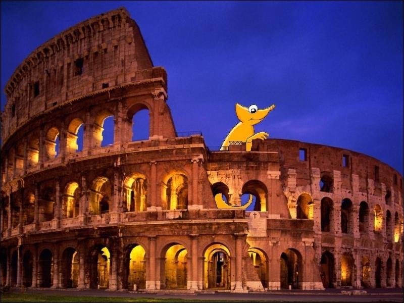 Vous l'avez bien reconnu : le petit caméléon admire la vue en escaladant le Colisée. Cependant, avez-vous identifié la ville ?