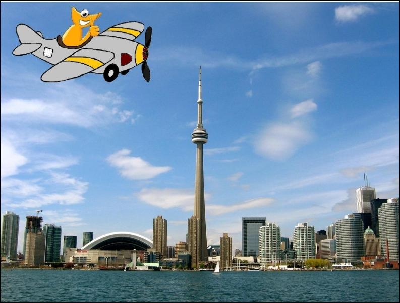 A bord de son petit avion, la bestiole orange contemple le magnifique paysage de Toronto. Cependant, ce n'est peut-être pas la capitale du pays. A votre avis, quelle est-elle ?