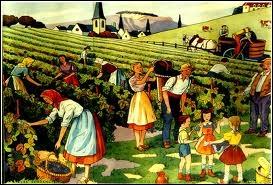 Déjà (... ) de la vigne un grand peuple s'avance ;