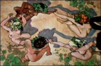 Ils chantent leurs amours (... ) le Dieu des raisins ;