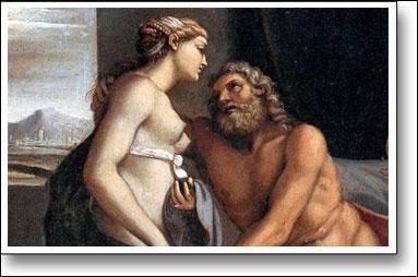 Selon Hésiode, poète grec du VIIIe siècle, ce dieu primordial est le frère d'Héméra le jour.
