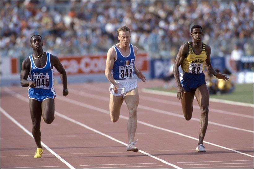 Gilles Quénéhervé (le blanc sur la photo) fut détenteur du record de France du 200m, de 1966 jusqu'en 2010, année où ce record fut égalé par Christophe Lemaitre. Il était de :