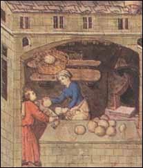Le pain constitue l'alimentation essentielle, on le vénère. Pains d'épeautre, de seigle, de froment, de sarrasin, d'avoine, d'orge, de millet. Comment s'appelle la grande tranche servant d'assiette ?