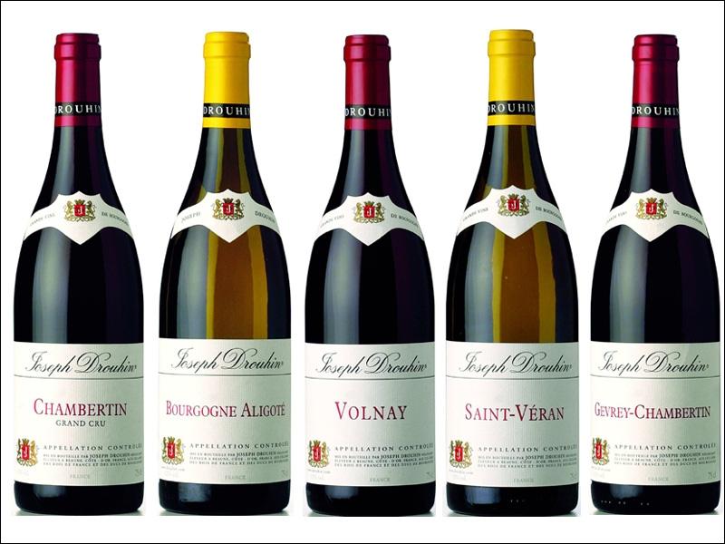 Eliminez la liste qui ne contient pas exclusivement les noms de vins de Bourgogne .