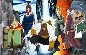 Qui étaient les 5 kages de l'alliance des shinobis ?