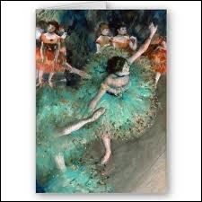 De qui est le tableau  la danseuse verte  (danseuse basculante) ?