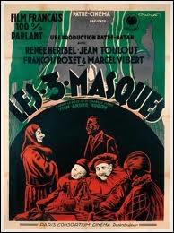 L'année 1929 marque l'avènement du cinéma parlant en France avec   Les trois masques   du réalisateur André Hugon ?