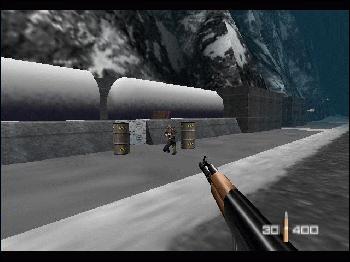 Hit de la Nintendo 64, le premier vrai FPS sur console.