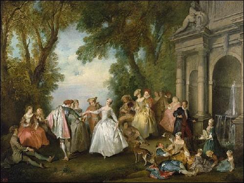 Danse entre le pavillon et la fontaine, 1732