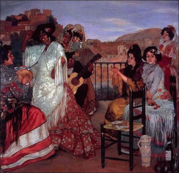 Danse gitane sur la terrasse, Granade, 1922-23