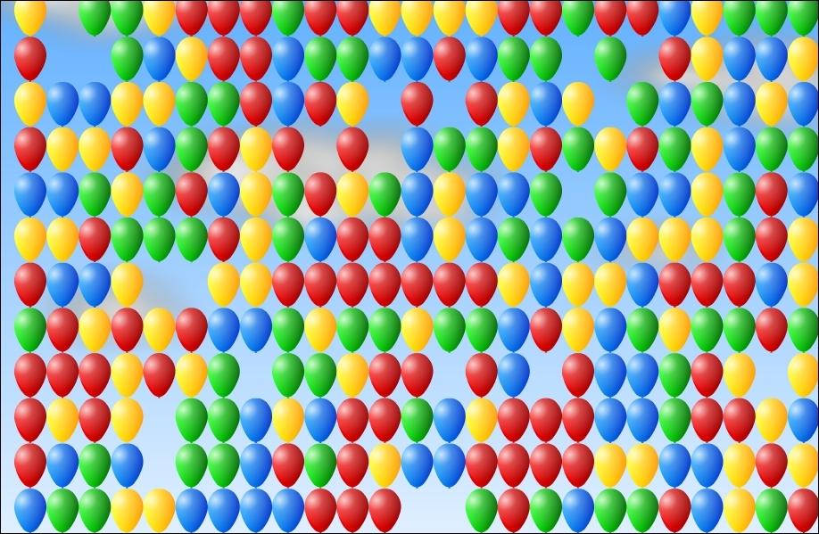 Combien de ballons volent dans le ciel ?