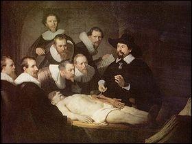 Qui a peint ce tableau intitulé  La leçon d'anatomie  ?