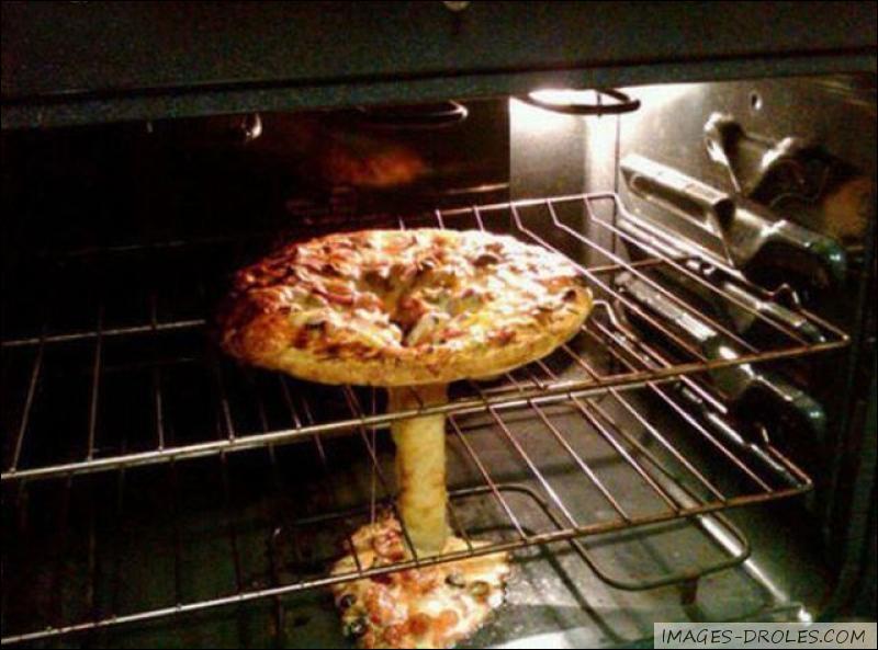Maman j'ai faim !   Il est facile de différencier la forme du champignon mais d'après vous qu'a-t-on utilisé ?