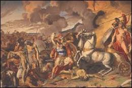 Lequel de ces héros s'est illustré pendant la guerre de Troie à la tête des Myrmidons ?
