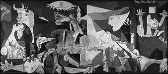 Quand la légion Condor fondit sur cette ville La terreur submerga militaires et civils L'horreur de ce massacre inspira Picasso Qui, du fond de ses tripes, engendra ce tableau