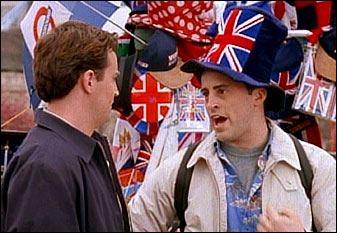 Pourquoi Joey et Chandler sont-ils à Londres ?