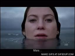 Dans la saison 03, qui Meredith rencontre-t-elle lors de son voyage dans l'au-delà ?