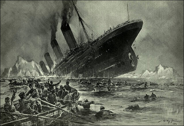 Le RMS Titanic sombra au fond de l'Océan Atlantique en l'année :