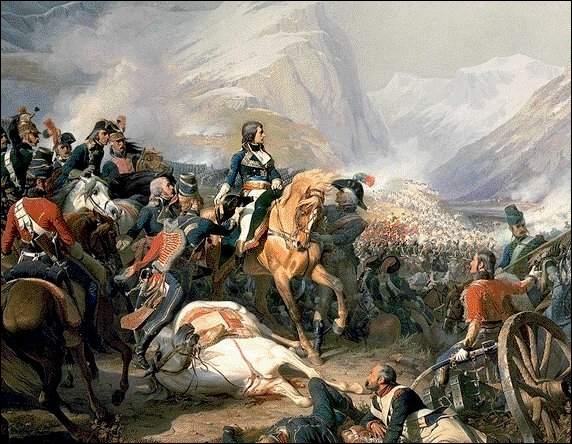 Henri Félix Emmanuel Philippoteaux, dans ce tableau, peint la victoire in extremis du 14 janvier 1797, dans la bataille de...