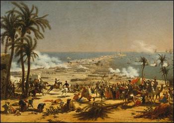 Ce tableau peint sur toile par le général Lejeune fait référence au rêve oriental de Bonaparte, mais plus précisément à quelle victoire du 25 juillet 1799 ?