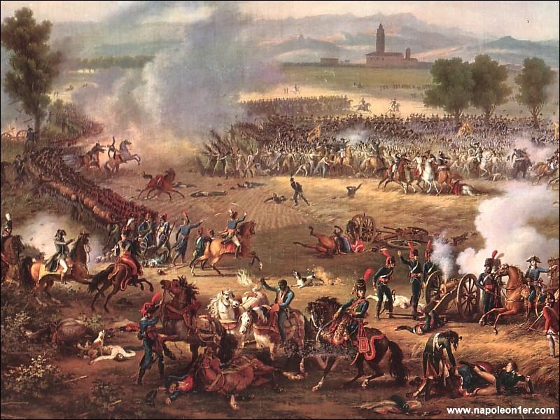 A quelle victoire du 14 juin 1800, cette oeuvre peinte par le général Lejeune, fait-elle référence ?