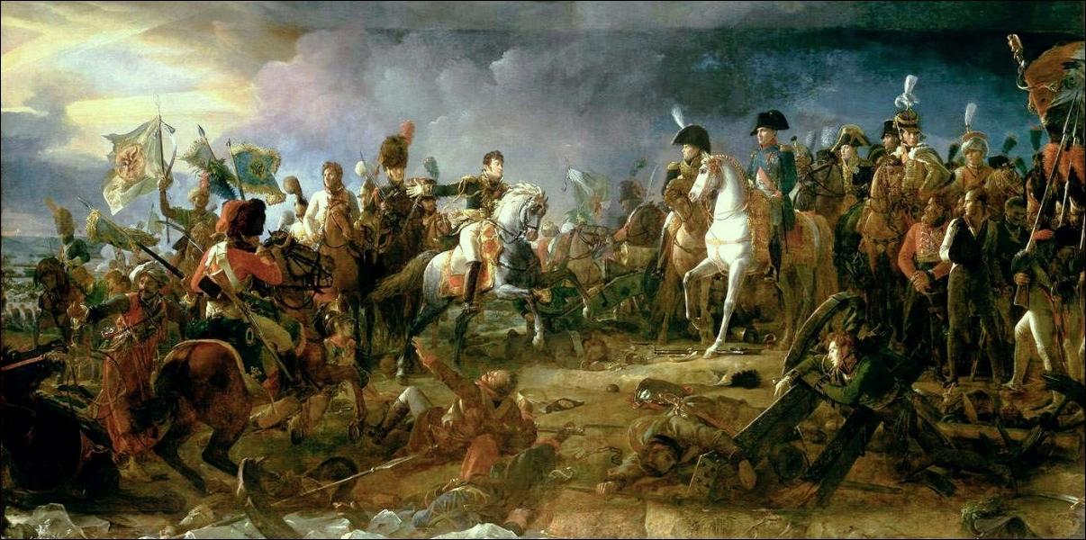 Quelle grande bataille de 1805, surnommée la  bataille des Trois Empereurs , cette peinture de François Gérard, illustre-t-elle ?