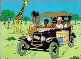 Dans quel album Tintin croise-t-il une girafe au cours d'un safari ?