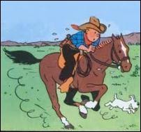 Dans quel album Tintin galope-t-il à cheval ?