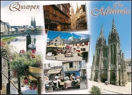 Je vous envoie une carte postale de Quimper, où les habitants portent le gentilé ...