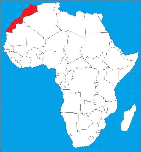 Quel nom porte le pays en rouge sur la carte ?