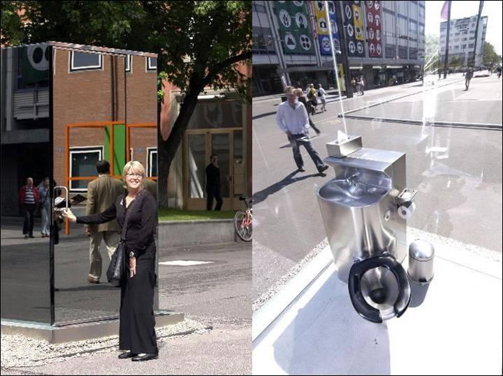Les toilettes publiques ont bien évolué depuis les vespasiennes (urinoirs publics), comme on peut le constater sur cette photo. Mais quelle est l'origine du mot  vespasiennes  ?