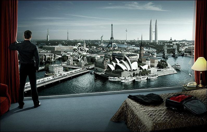 Au tout premier plan de cette photo, vous pouvez aisément reconnaître un célèbre opéra australien. Dans quelle ville peut-on l'admirer ?