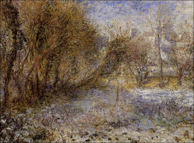 Qui a peint Paysage de neige ?