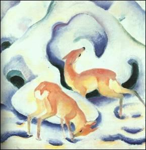 Qui a peint Biches dans la neige ?