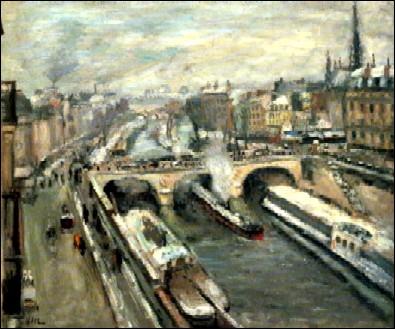Qui a peint Pont Saint Michel effet de neige ?