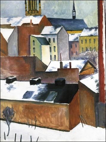 Qui a peint La Marienkirche à Bonn sous la neige ?
