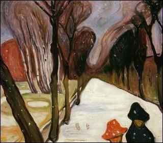 Qui a peint Allée sous la neige ?