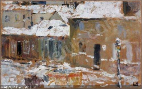 Qui a peint Rue de Paris sous la neige ?