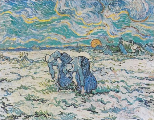 Qui a peint Deux paysannes dans un champ de neige ?
